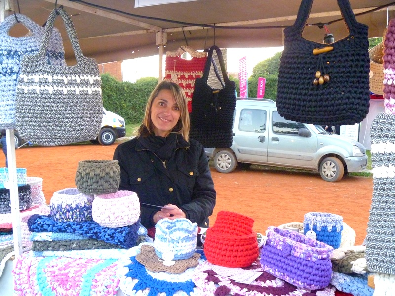 Emprendedores locales – tejidos con trapillo