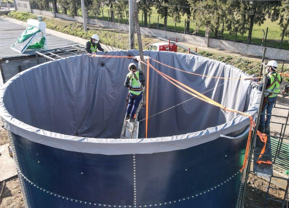Escobar Sostenible: en el barrio Lambertuchi avanza la construcción del primer biodigestor del distrito